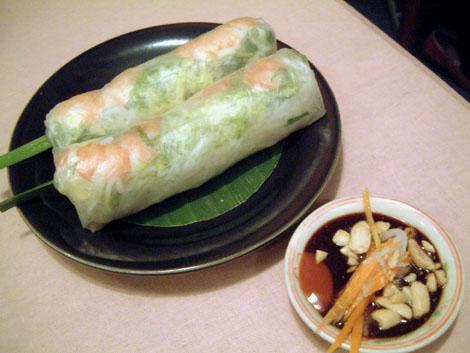 ベトナム料理 ミレイ:大田区蒲田:海老の生春巻き