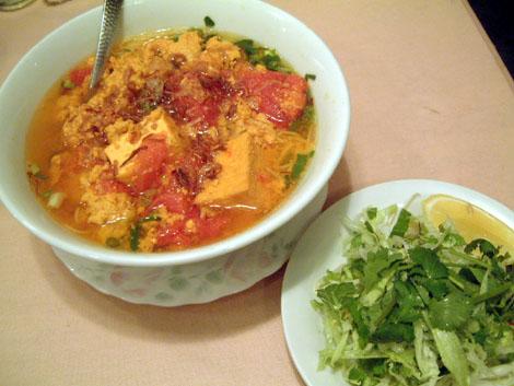 ベトナム料理 ミレイ:大田区蒲田:蟹とトマトのビーフン